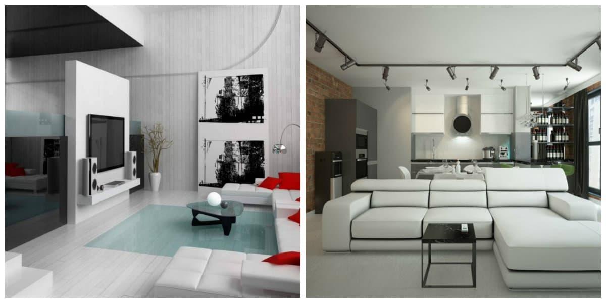 Estilo high tech- salas de estar de moda