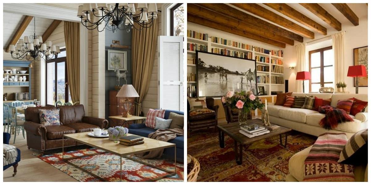Interior del pais- muebles adecuados de moda