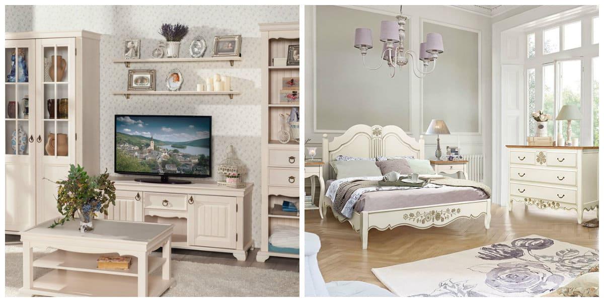 Muebles estilo provenzal- salones y dormitorios