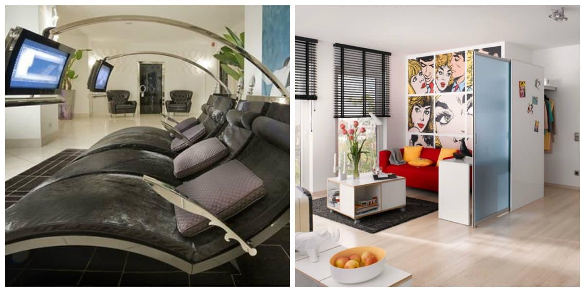 Muebles high tech- colores variables de moda
