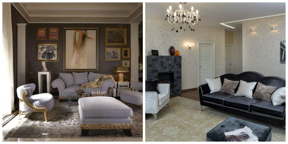 Muebles neoclasicos- uso de muebles modernos