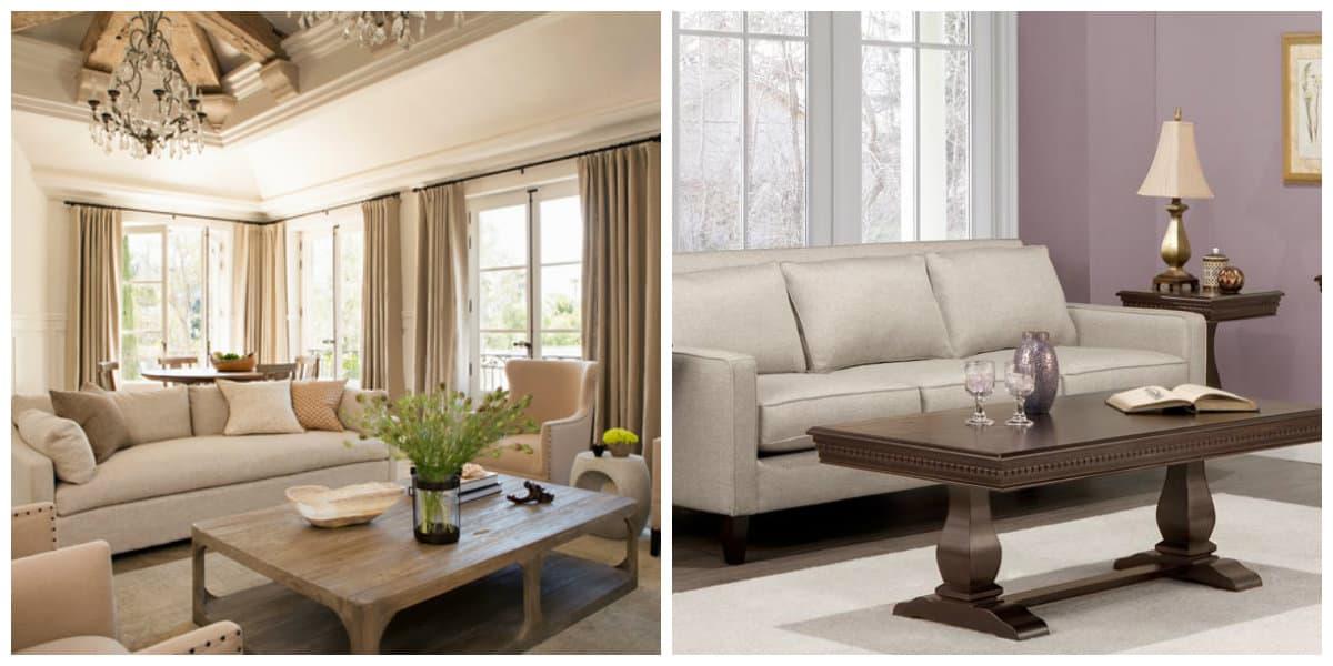 Sala provenzal- muebles adecuados de moda