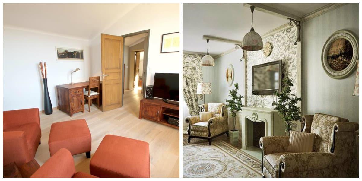 Sala provenzal- diseno moderno de sala de estar