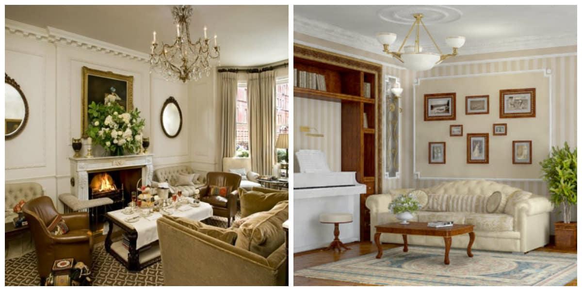 Salas estilo ingles- ideas generales y modernas