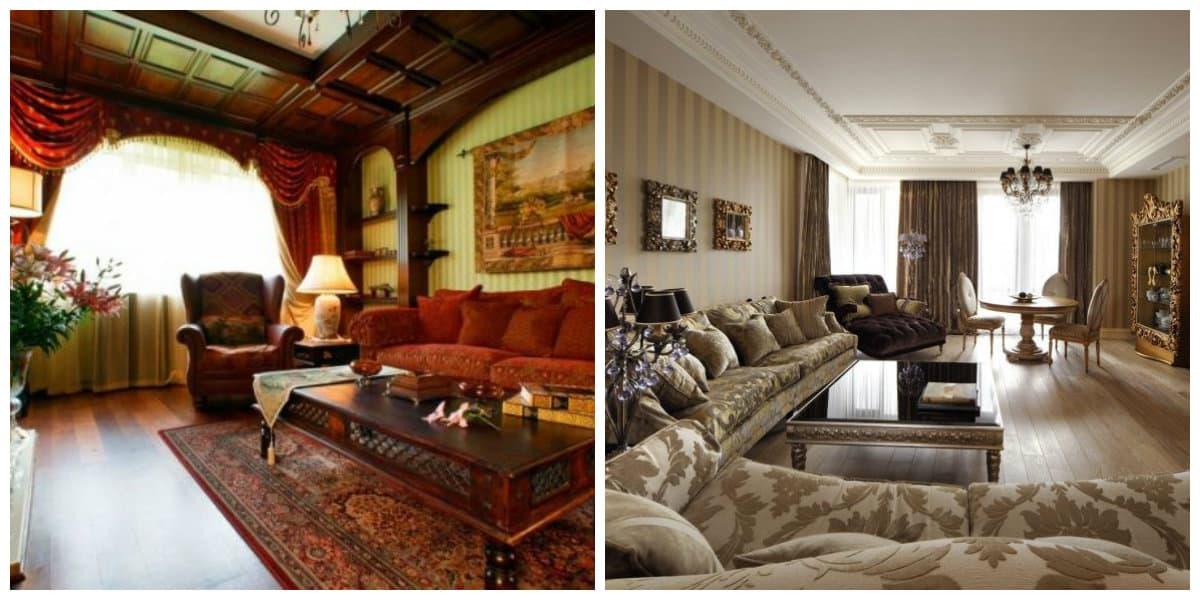 Salas estilo ingles- muebles muy adecuados