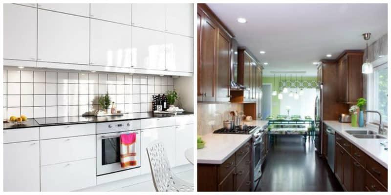 Cocinas pequeñas 2019- el color blanco clasico