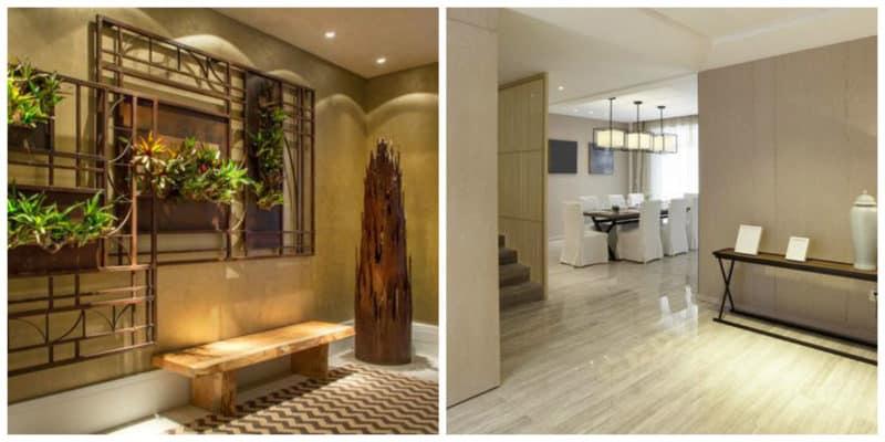Hall de entrada moderno- iluminacion de la sala de estar