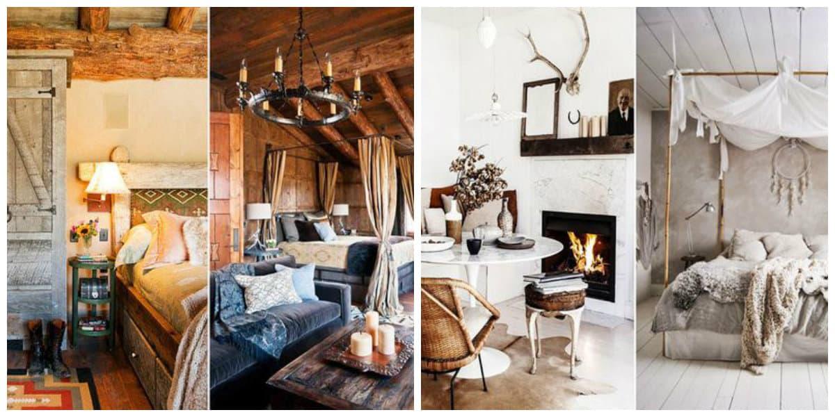 Interiores rusticos- atributos necesarios de moda
