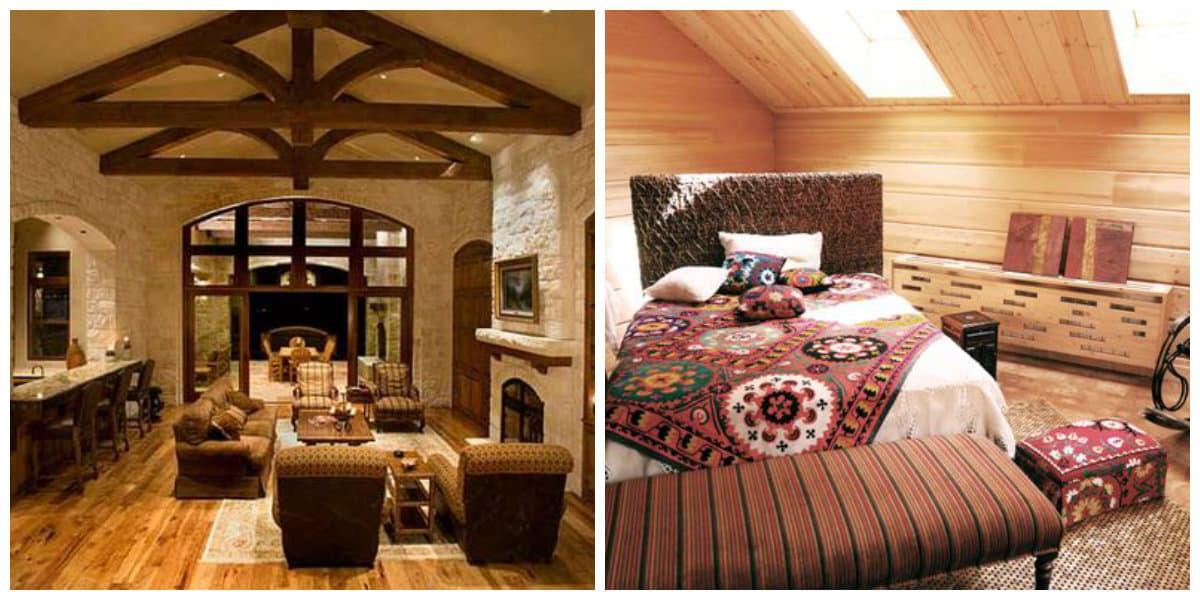 Interiores rusticos- ideas para el uso de muebles