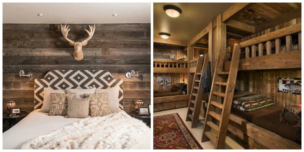 Interiores rusticos- madera como un material muy usado